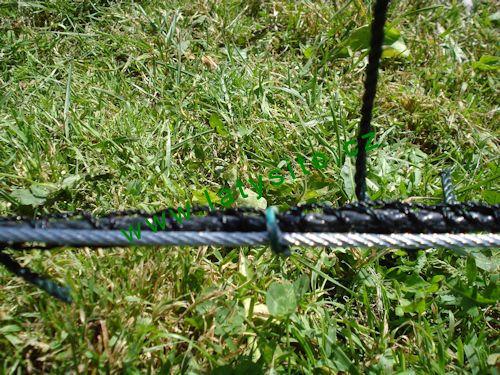 Uchycení sítě k lanku