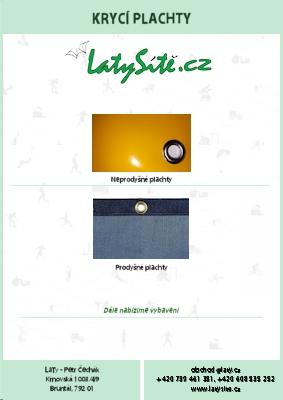 LaTy - Katalog Plachty